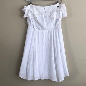 BCBGeneration White Strapless Dress